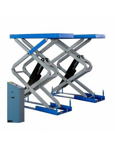 Подъемник ножничный электрогидравлический AE&T F6105 220В монтируемый в пол, используется для ремонта автомобилей до 3 тонн.