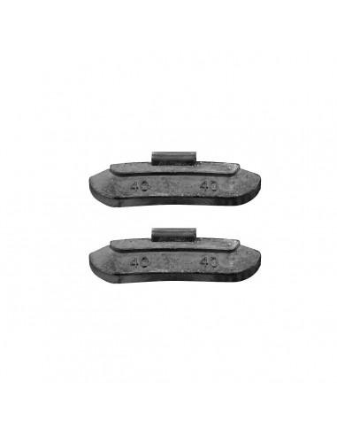 Балансировочные свинцовые грузики 40 гр для стальных дисков легковых легких грузовых автомобилей купить во Владимире и области.