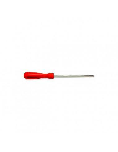 Экстрактор Clipper T174L отвертка с пластиковой ручкой для вставки извлечения ниппеля из колесного вентиля купить во Владимире.