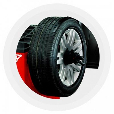 Технология Direct3D позволяет одинаково успешно балансировать колеса с различными дисками: штампованными, обычными литыми или PAX