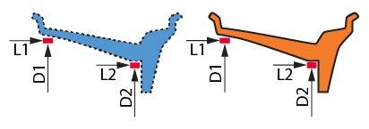 Параметры диска, используемые при расчете места установки и веса грузов, совпадают с фактическими.