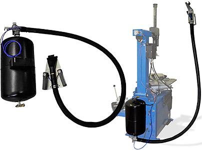 """SIVIK - """"взрывная накачка"""" включает воздушный ресивер, сопло с органами управления и арматуру для соединения с пневмосетью станка."""