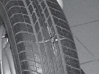 Ремонт сквозных повреждений бескамерных шин, шина готова к эксплуатации.