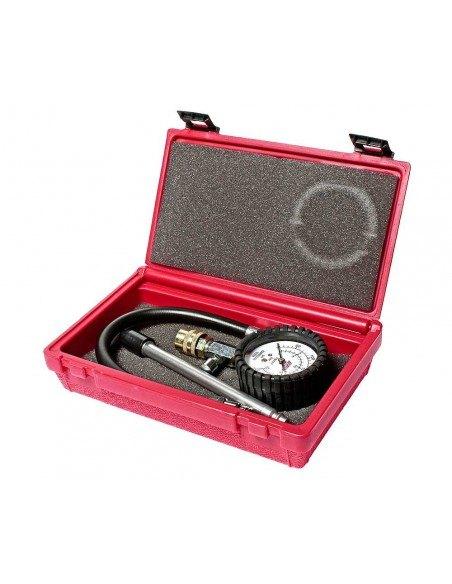 JTC-1621A Компрессометр для бензиновых двигателей с адаптерами подходит ко всем диаметрам свечных отверстий купить во Владимире.