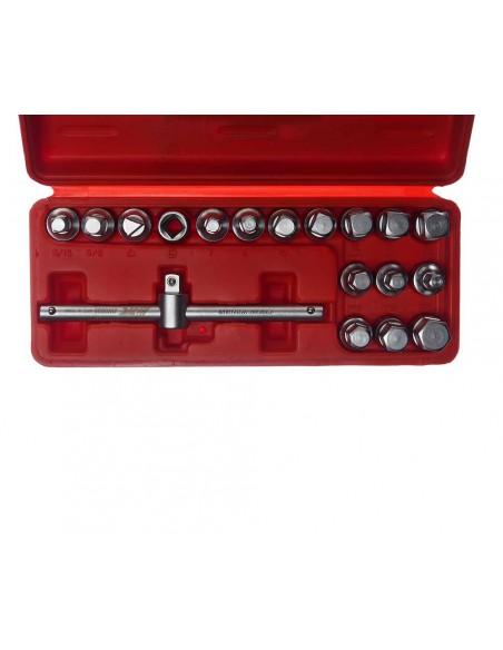 JTC-JW0895 Набор головок для отворачивания масляных пробок 18 предметов купить во Владимире система смазки.