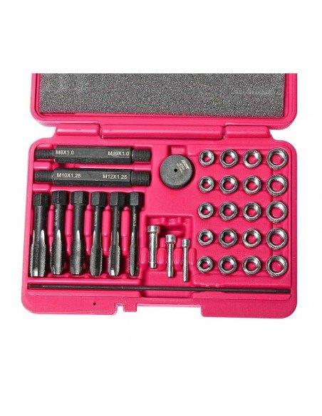 JTC-4053 Набор инструментов для восстановления резьбы под свечи накаливания 33 предмета в кейсе купить во Владимире.