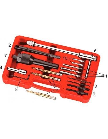 JTC-4054 Набор инструментов для извлечения свечей накаливания зажигания восстановления резьбы в колодцах купить во Владимире.