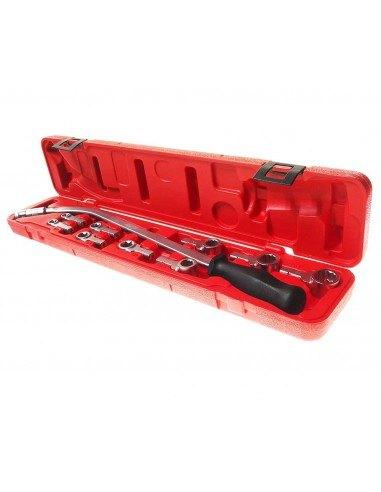 JTC-4515 универсальный набор инструментов для натяжения и замены поликлинового ремня купить во Владимире 13 адаптеров.