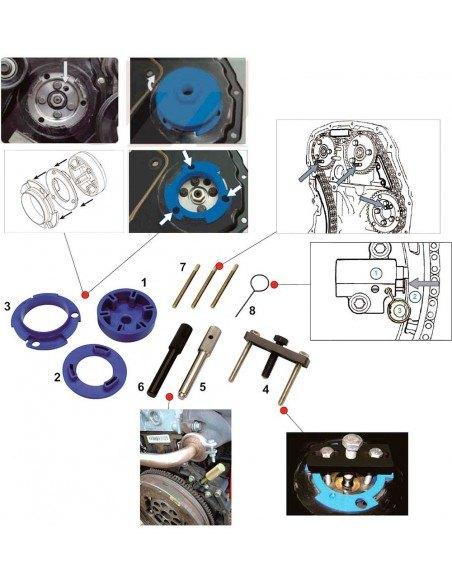 JTC-4435 Набор инструментов для снятия ТНВД топливного насоса высокого давления двигателей Ford Duratorq купить во Владимире.