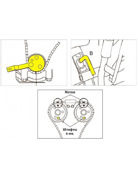 JTC-4436 Набор приспособлений для фиксации коленвала и распредвала FORD 2.2 TDCI для блокировки валов купить во Владимире.