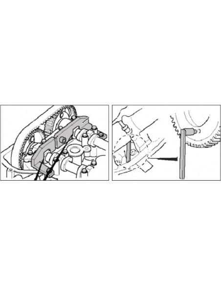 JTC-4439 Набор приспособлений для фиксации коленвала и распредвала PEUGEOT CITROEN для фиксации валов в ВМТ купить во Владимире.