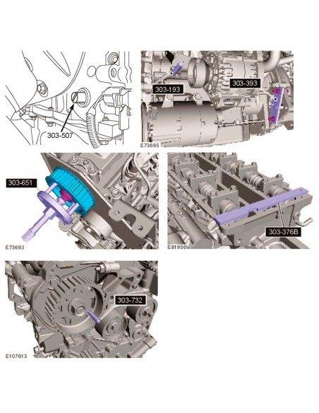JTC-4234 Набор фиксаторов распредвала коленвала при замене приводного ремня цепи двигателей FORD MAZDA купить во Владимире.