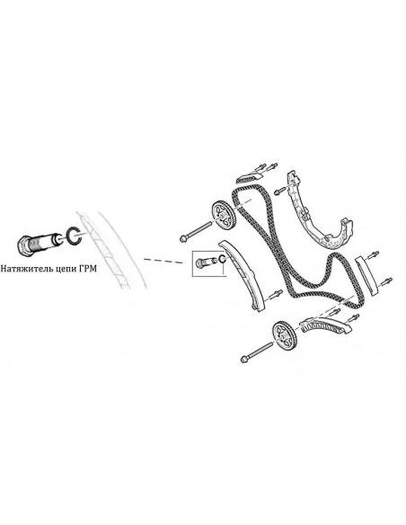 JTC-4032 Пневматический натяжитель цепи ГРМ двигателя PORSCHE Cayenne (4.5/4.8) AUDI Q7 купить во Владимире.