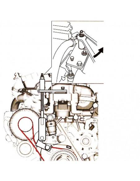 JTC-4542 Приспособление для замены приводного ремня (SUZUKI) купить во Владимире Профессиональный инструмент Моторная группа По.