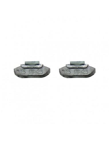 Балансировочные свинцовые грузики 25 гр для стальных дисков легковых легких грузовых автомобилей купить во Владимире и области.