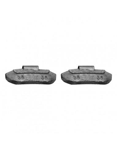 Балансировочные свинцовые грузики 35 гр для стальных дисков легковых легких грузовых автомобилей купить во Владимире и области.