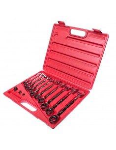 JTC-3028 Набор ключей комбинированных трещоточных 8-19мм 13 предметов в кейсе купить во Владимире Профессиональный инструмент К.