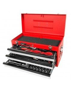 JTC-B065 Набор инструментов 65 предметов слесарно-монтажный в переносном инструментальном ящике (3 лотка) купить во Владимире П.