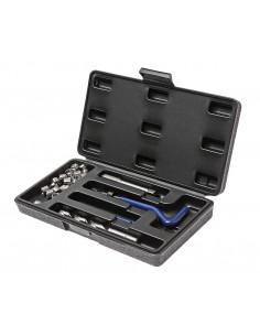 JTC-4783 Набор инструментов для восстановления резьбы (вставки М10х1.25, L 13.5мм, 10шт.) 14 предметов купить во Владимире Проф.
