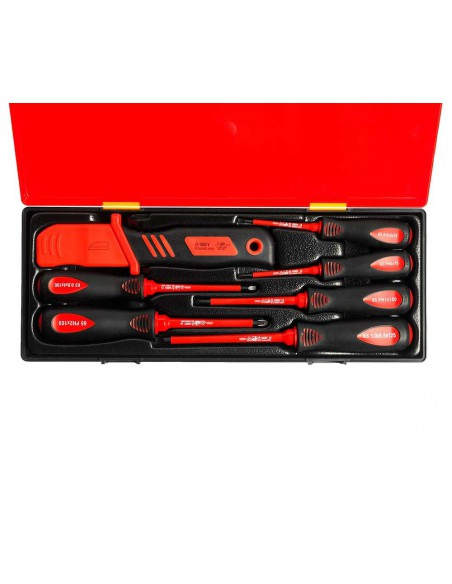 JTC-K9071 Набор отверток SL 3-SL5.5, PH0-PH2 диэлектрических с ножом 7 предметов купить во Владимире Профессиональный инструмен.